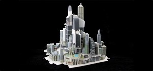 3D-Printed-Architectural-Model-Futuristic-Tower-City_1